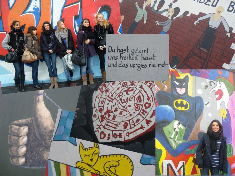 Danach sind wir an die East Side Gallery spazieren gegangen.