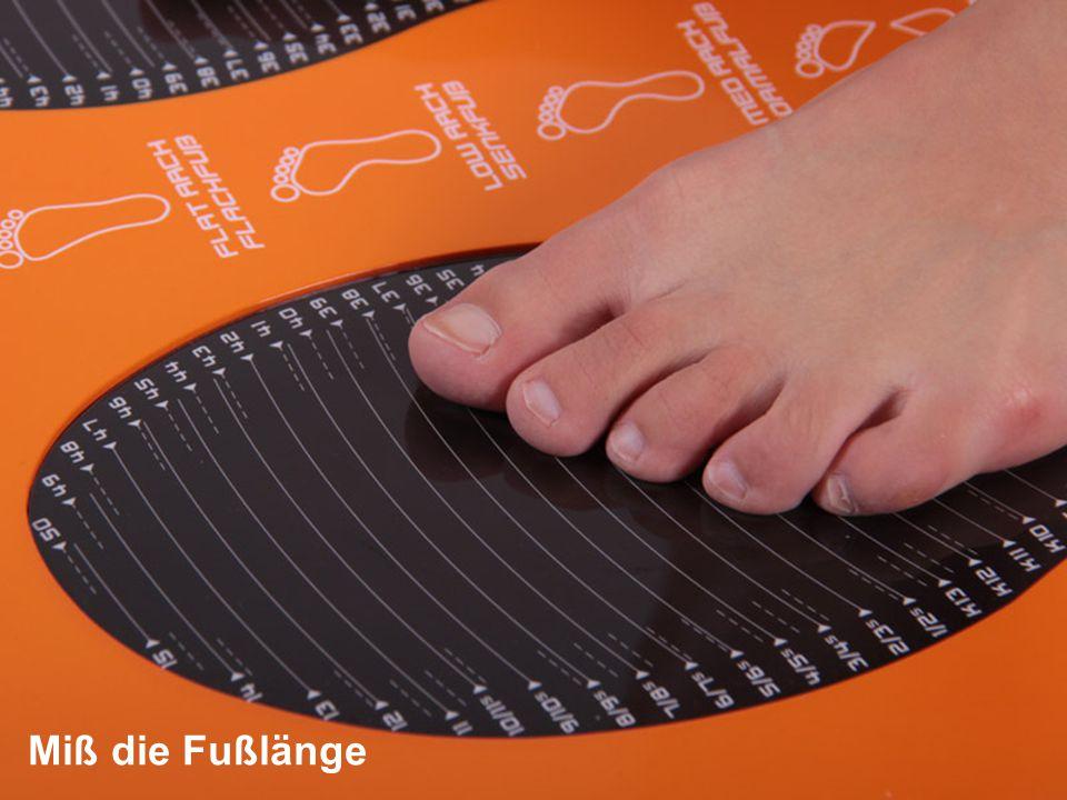 Miß die Fußlänge