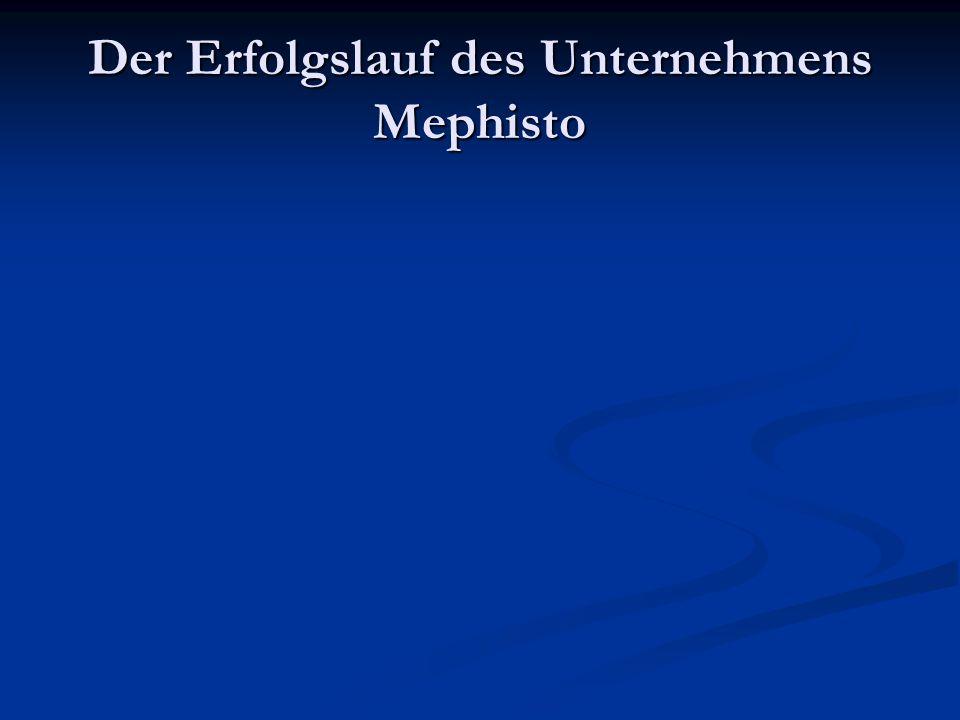 Der Erfolgslauf des Unternehmens Mephisto