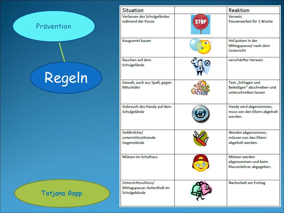 Regeln Tatjana Gapp Prävention