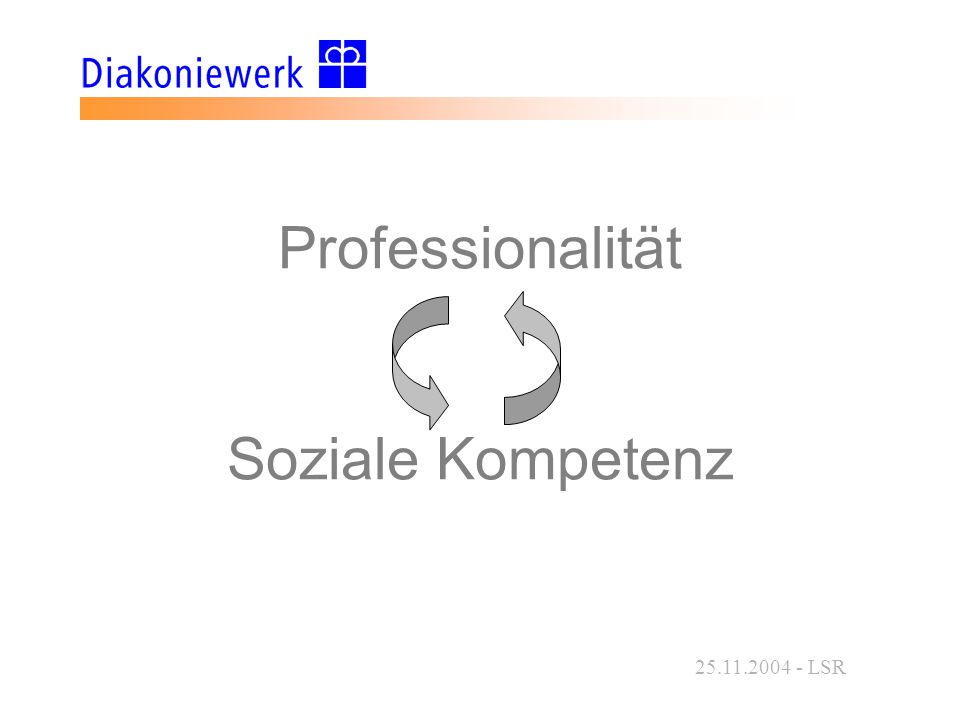 25.11.2004 - LSR Professionalität Soziale Kompetenz