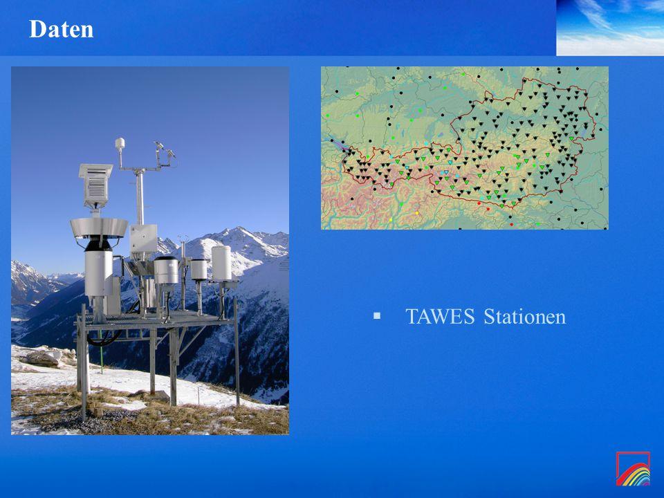 Daten  TAWES Stationen