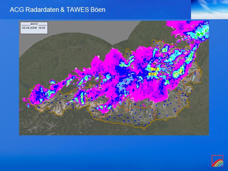 ACG Radardaten & TAWES Böen