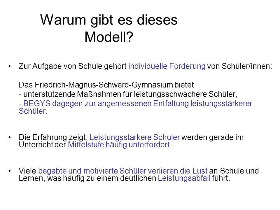 Warum gibt es dieses Modell.