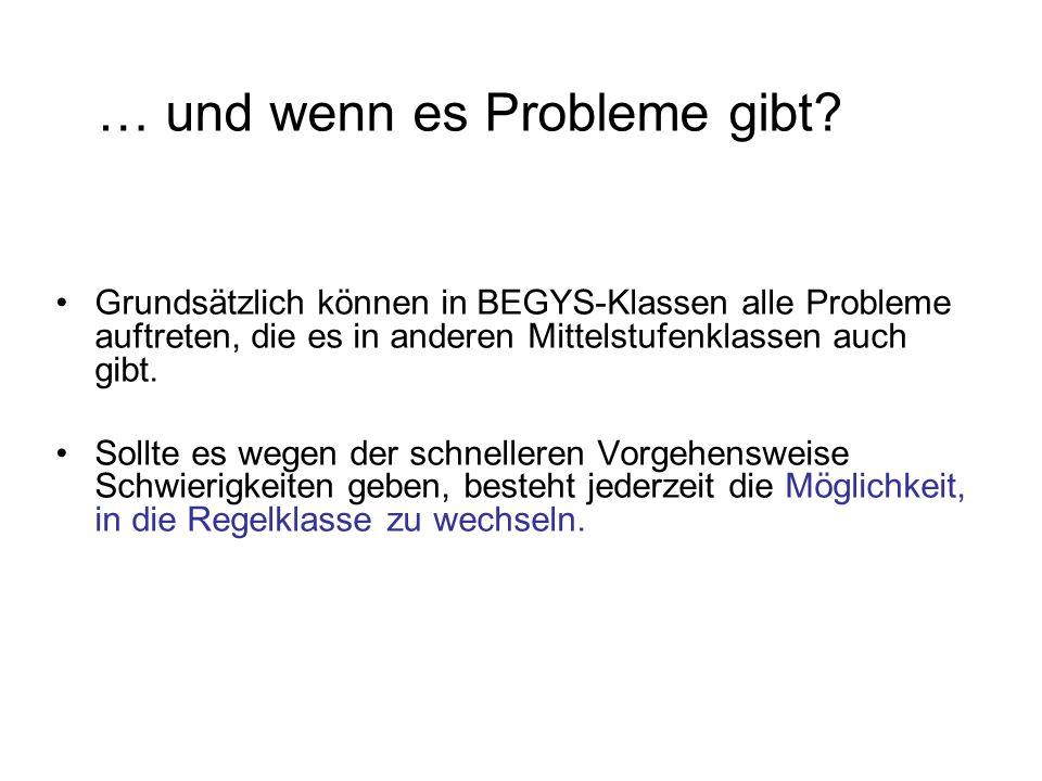 … und wenn es Probleme gibt.