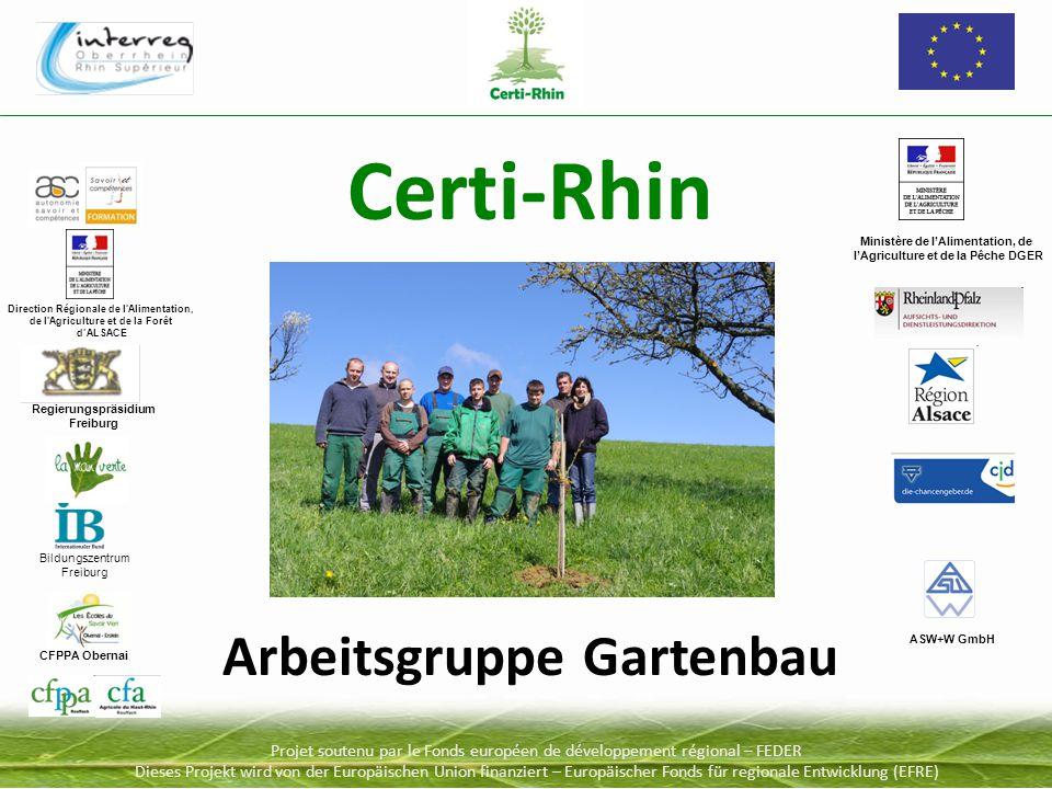 Projet soutenu par le Fonds européen de développement régional – FEDER Dieses Projekt wird von der Europäischen Union finanziert – Europäischer Fonds für regionale Entwicklung (EFRE) 1.