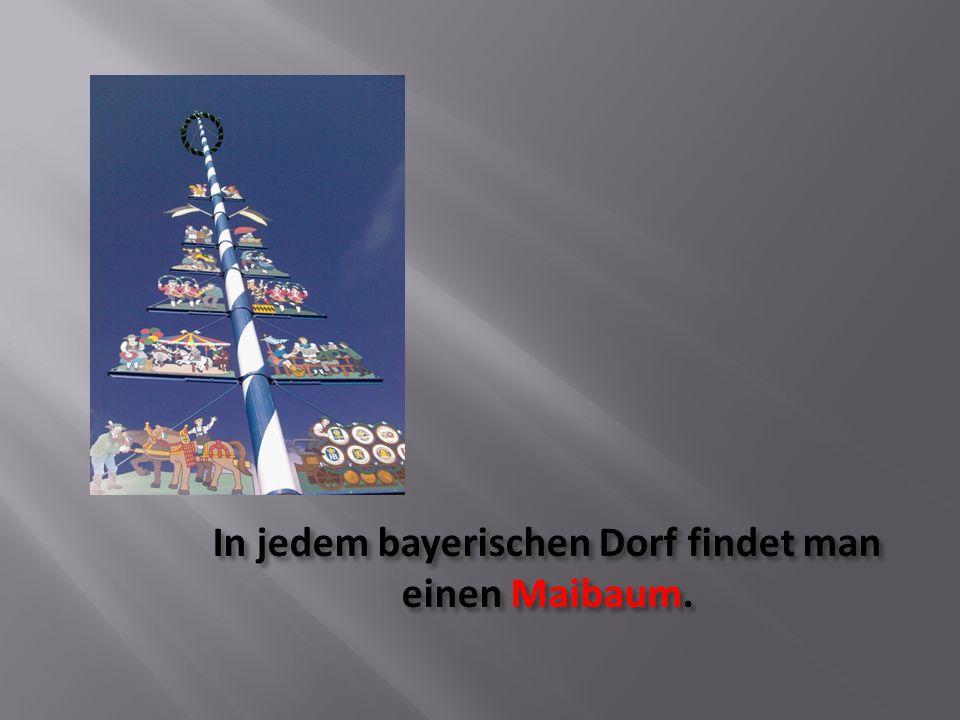 In jedem bayerischen Dorf findet man einen Maibaum.