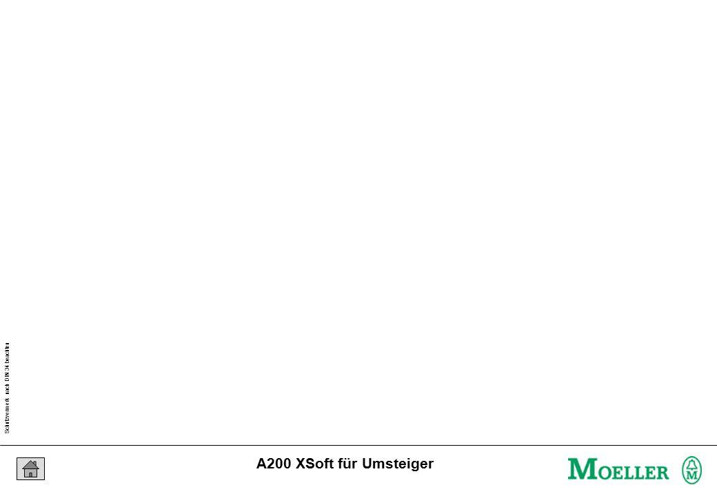 Schutzvermerk nach DIN 34 beachten 04/04/15 Seite 21 A200 XSoft für Umsteiger