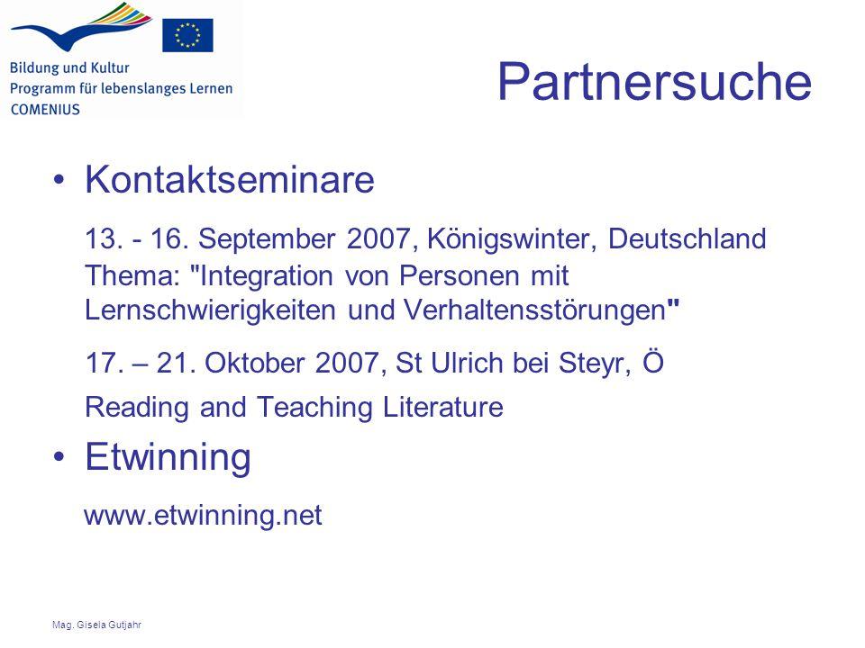 Partnersuche Kontaktseminare 13. - 16.