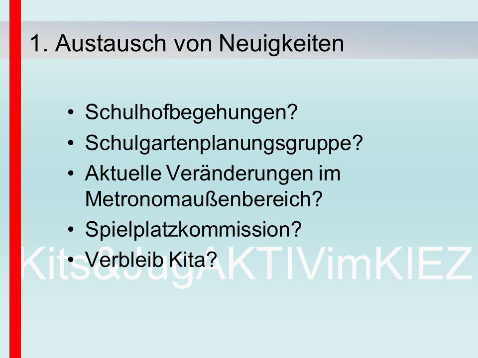 Kits&JugAKTIVimKIEZ Schulhofbegehungen. Schulgartenplanungsgruppe.