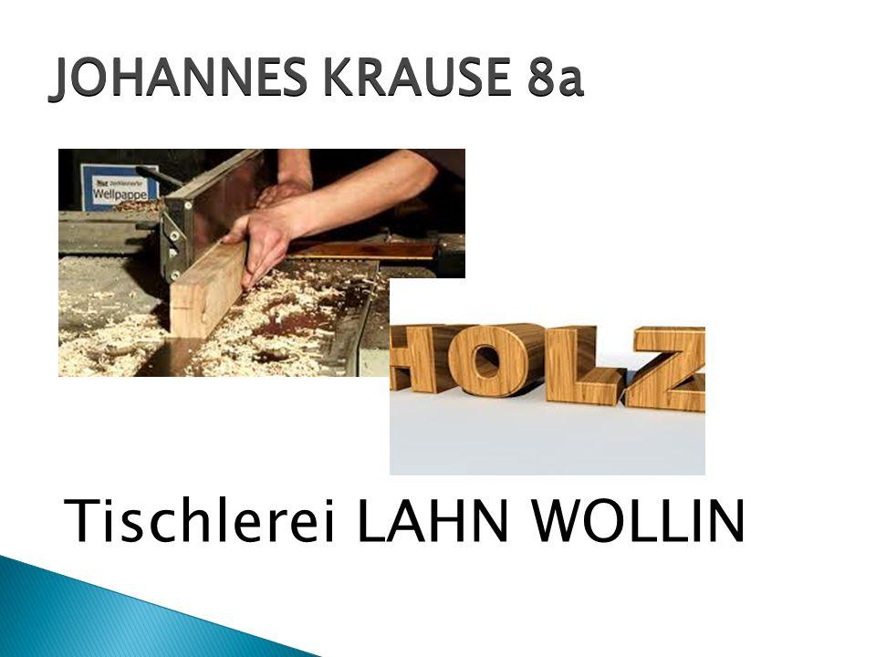Tischlerei LAHN WOLLIN JOHANNES KRAUSE 8a