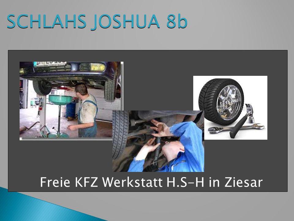 Freie KFZ Werkstatt H.S-H in Ziesar SCHLAHS JOSHUA 8b