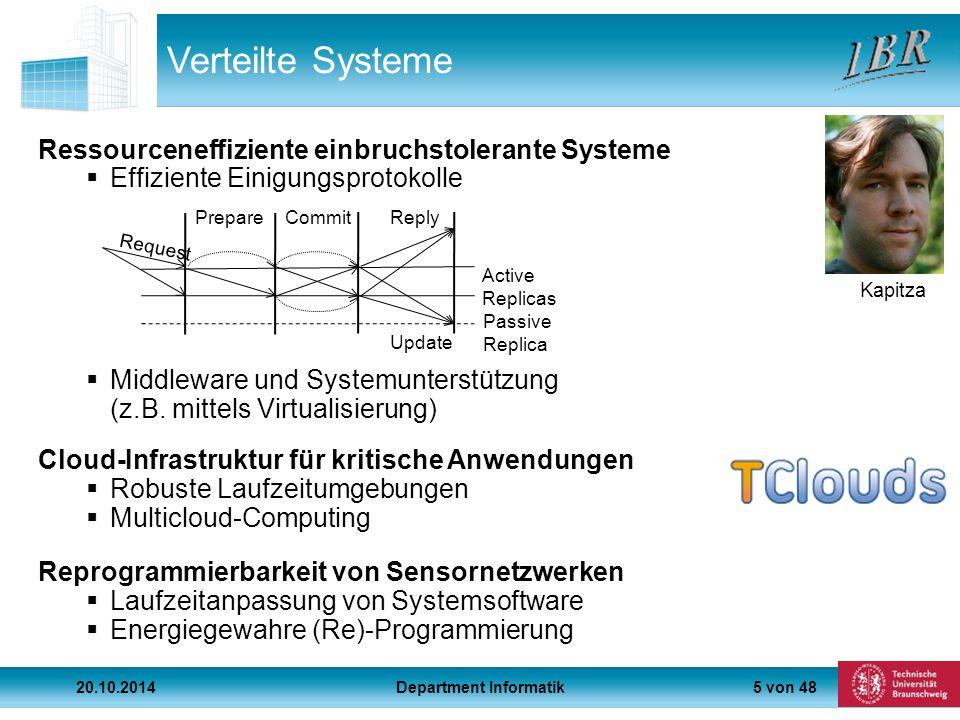 5 von 48 Verteilte Systeme Ressourceneffiziente einbruchstolerante Systeme  Effiziente Einigungsprotokolle  Middleware und Systemunterstützung (z.B.