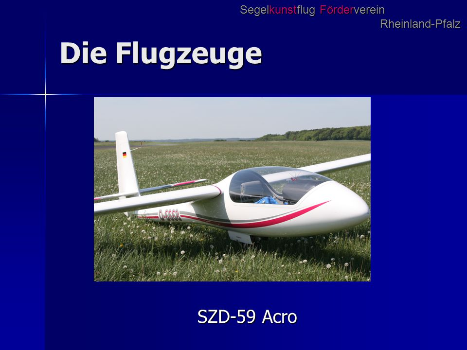 Der Anhänger Segelkunstflug Förderverein Rheinland-Pfalz