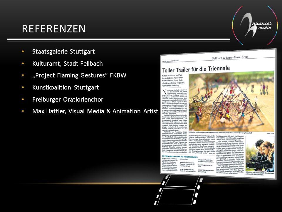 "Staatsgalerie Stuttgart Kulturamt, Stadt Fellbach ""Project Flaming Gestures FKBW Kunstkoalition Stuttgart Freiburger Oratiorienchor Max Hattler, Visual Media & Animation Artist REFERENZEN"