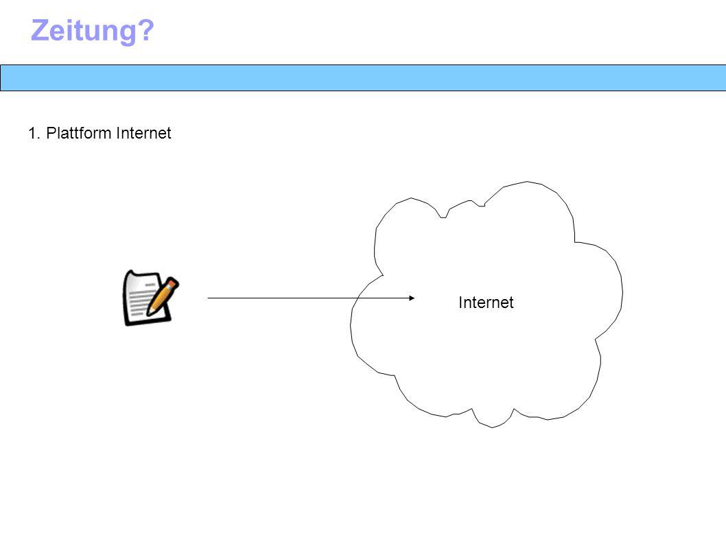 Zeitung 1. Plattform Internet Internet