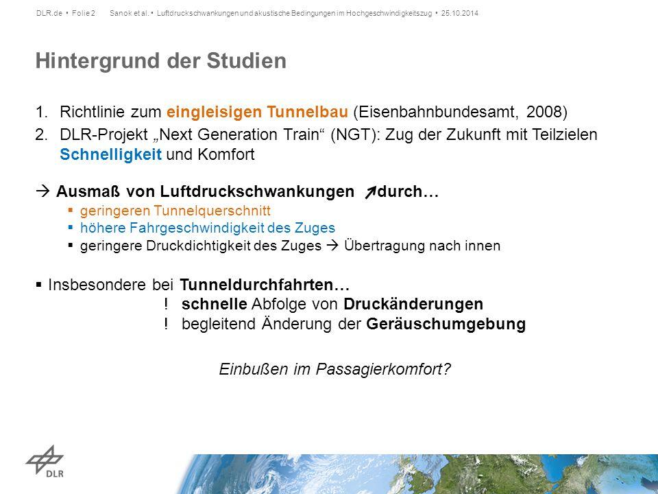 """1.Richtlinie zum eingleisigen Tunnelbau (Eisenbahnbundesamt, 2008) 2.DLR-Projekt """"Next Generation Train"""" (NGT): Zug der Zukunft mit Teilzielen Schnell"""