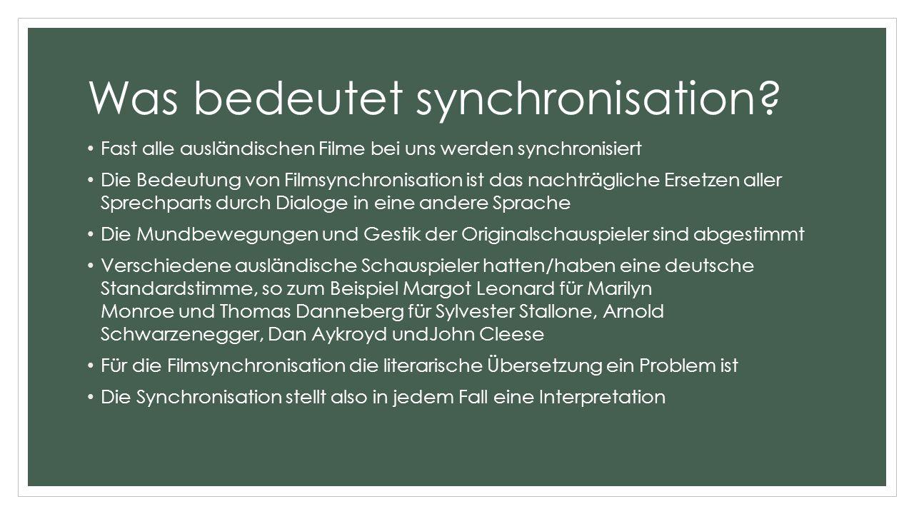 Was bedeutet synchronisation.