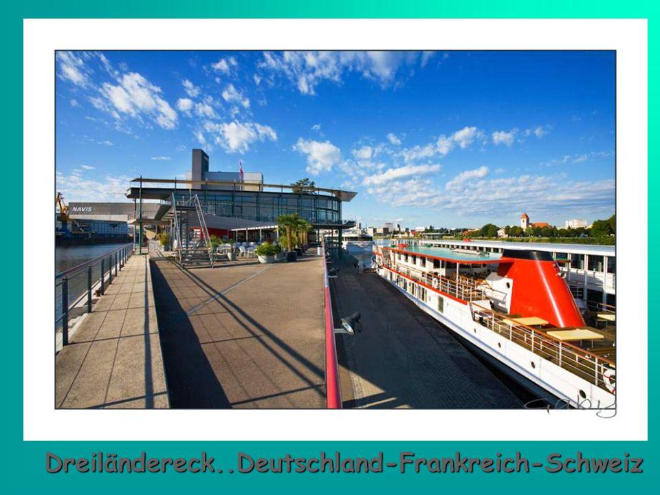 Dreiländereck..Deutschland-Frankreich-Schweiz