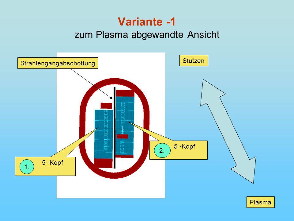 Variante -1 zum Plasma abgewandte Ansicht Plasma Stutzen Strahlengangabschottung 5 -Kopf 1.