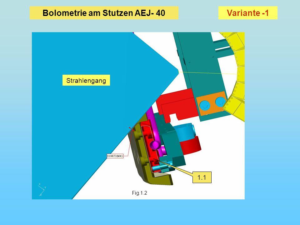 Fig.1.2 1.1 Bolometrie am Stutzen AEJ- 40 Strahlengang Variante -1