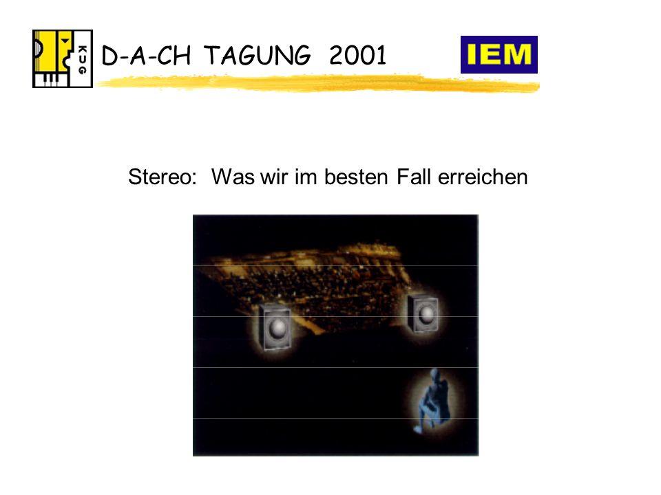 D-A-CH TAGUNG 2001 Stereo: Was wir im besten Fall erreichen