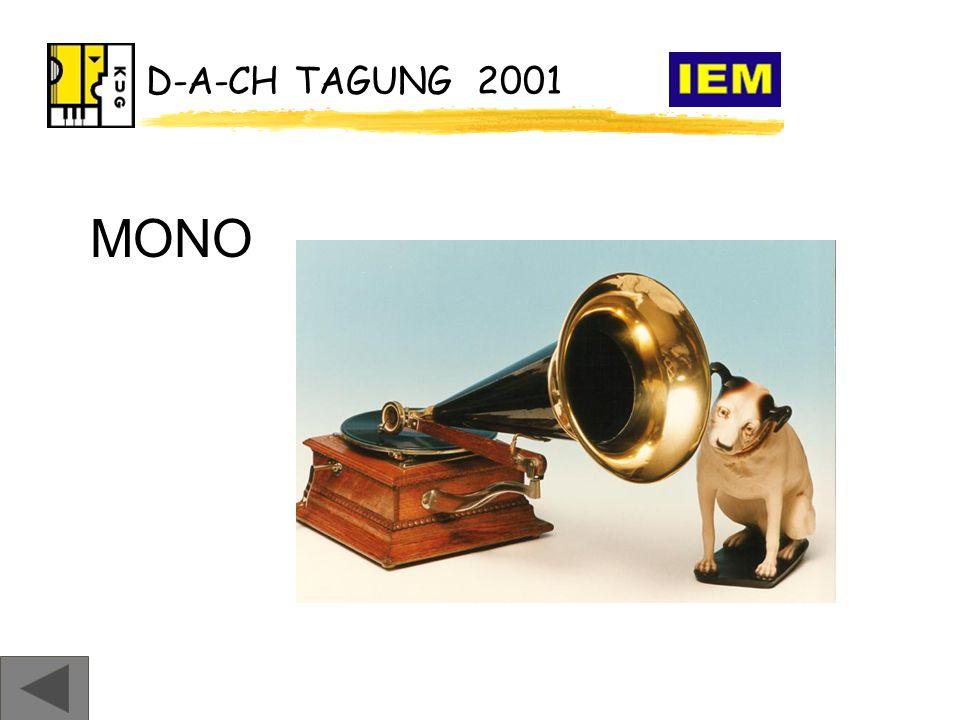 D-A-CH TAGUNG 2001 MONO