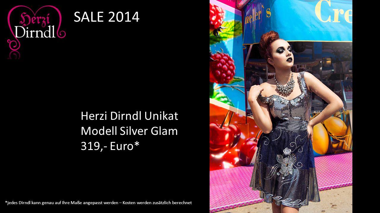 Herzi Dirndl Unikat Modell Silver Glam 319,- Euro* SALE 2014 *jedes Dirndl kann genau auf Ihre Maße angepasst werden – Kosten werden zusätzlich berech