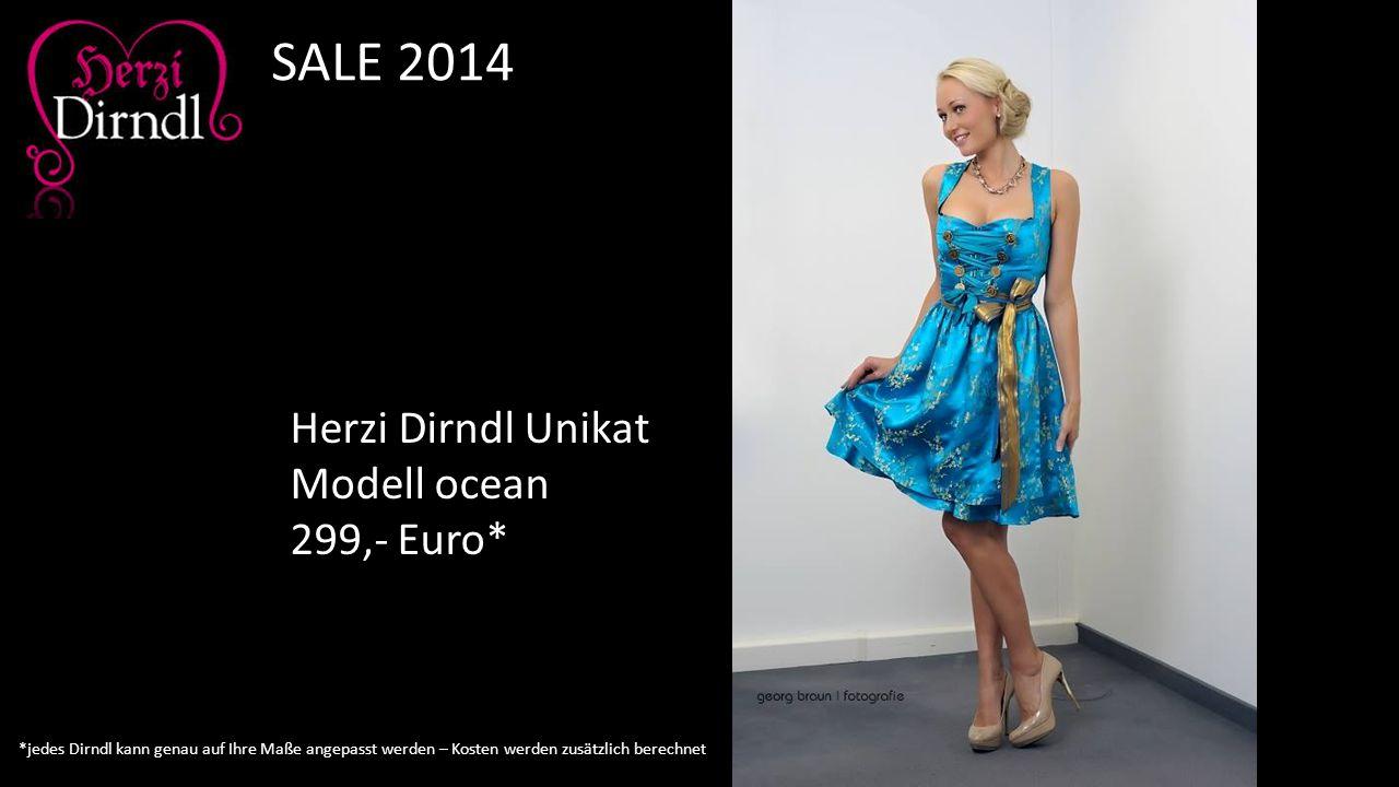 Herzi Dirndl Unikat Modell ocean 299,- Euro* SALE 2014 *jedes Dirndl kann genau auf Ihre Maße angepasst werden – Kosten werden zusätzlich berechnet