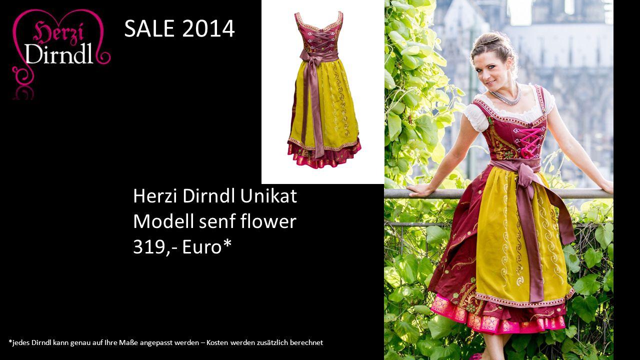 Herzi Dirndl Unikat Modell senf flower 319,- Euro* SALE 2014 *jedes Dirndl kann genau auf Ihre Maße angepasst werden – Kosten werden zusätzlich berech
