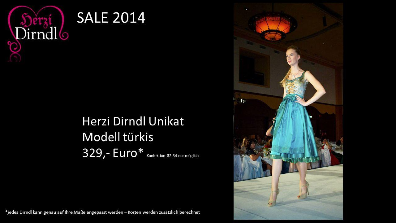 Herzi Dirndl Unikat Modell türkis 329,- Euro* Konfektion 32-34 nur möglich SALE 2014 *jedes Dirndl kann genau auf Ihre Maße angepasst werden – Kosten