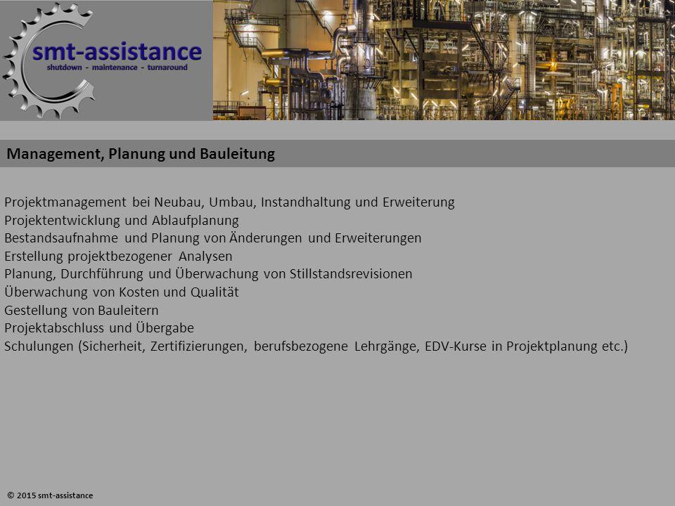 Management, Planung und Bauleitung Projektmanagement bei Neubau, Umbau, Instandhaltung und Erweiterung Projektentwicklung und Ablaufplanung Bestandsau