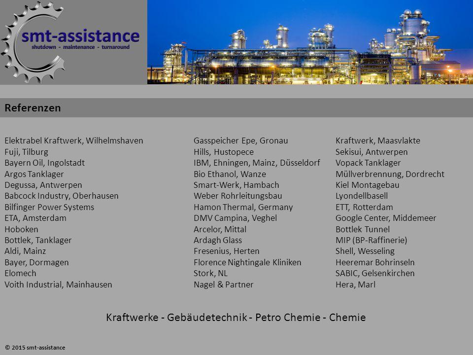 Elektrabel Kraftwerk, WilhelmshavenGasspeicher Epe, GronauKraftwerk, Maasvlakte Fuji, TilburgHills, HustopeceSekisui, Antwerpen Bayern Oil, Ingolstadt
