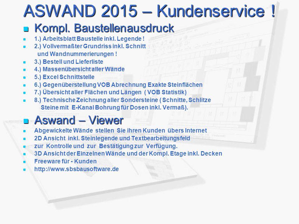 ASWAND 2015 – Kundenservice .Kompl. Baustellenausdruck Kompl.
