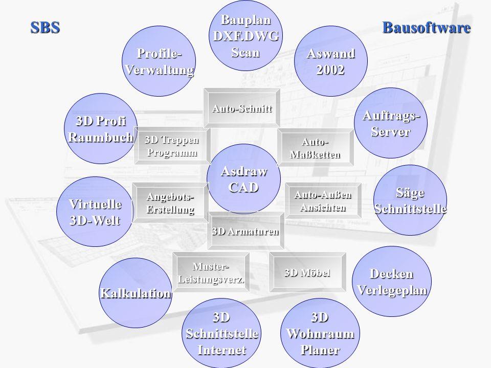 BauplanDXF.DWGScan AsdrawCAD Aswand2002 Auftrags-Server SägeSchnittstelle Profile-Verwaltung 3D Profi Raumbuch Kalkulation Virtuelle3D-Welt DeckenVerl