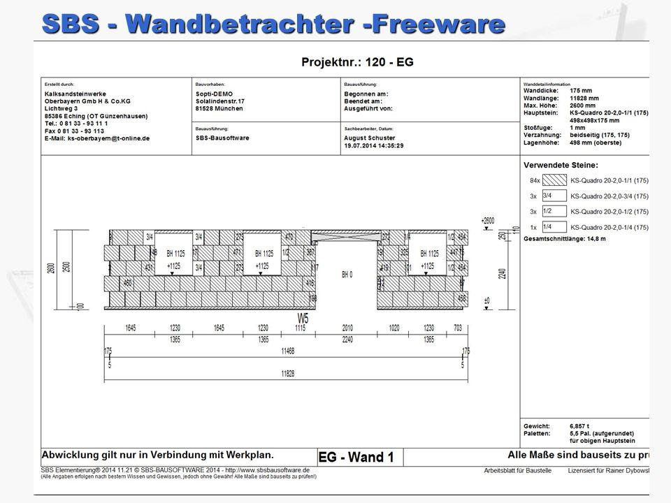 SBS - Wandbetrachter -Freeware