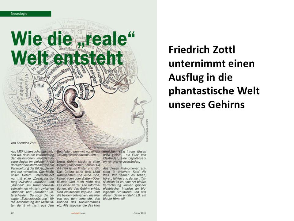Friedrich Zottl unternimmt einen Ausflug in die phantastische Welt unseres Gehirns