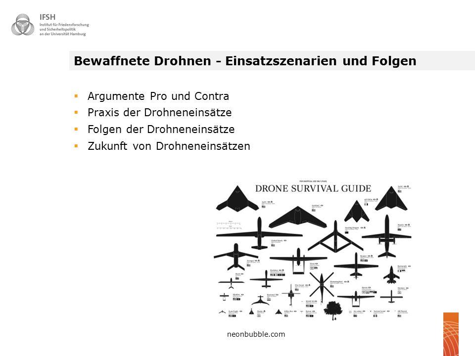 Bewaffnete Drohnen - Einsatzszenarien und Folgen  Argumente Pro und Contra  Praxis der Drohneneinsätze  Folgen der Drohneneinsätze  Zukunft von Dr