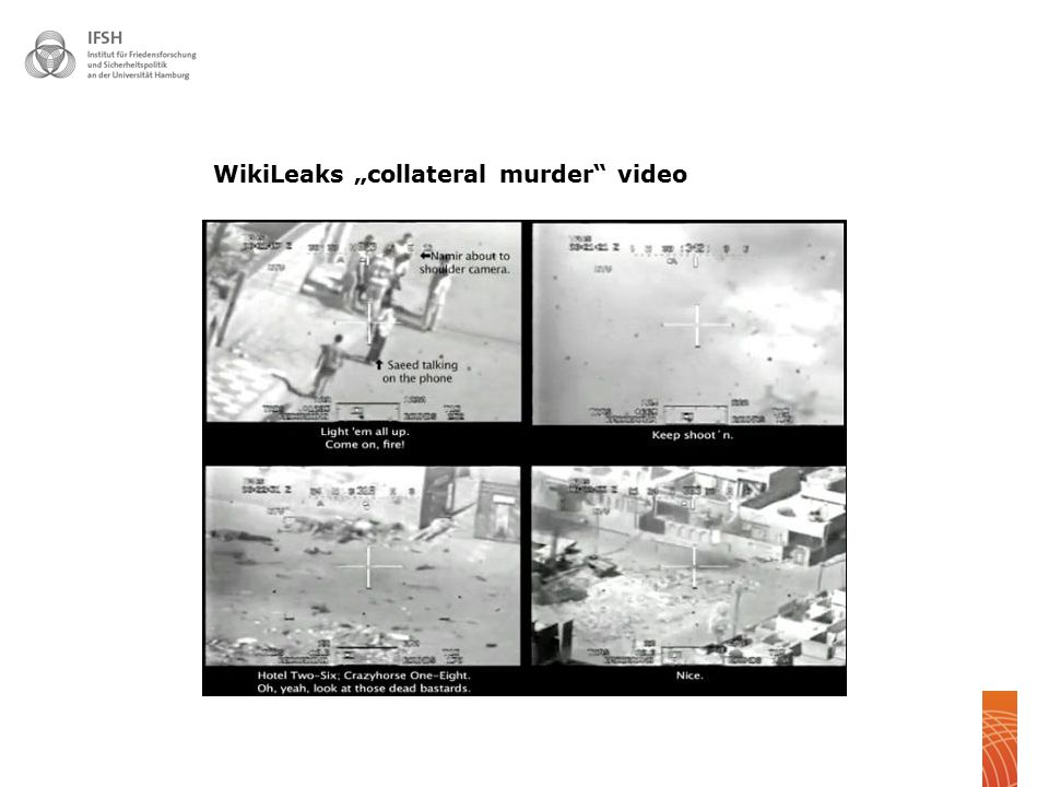 " 20 WikiLeaks ""collateral murder"" video"