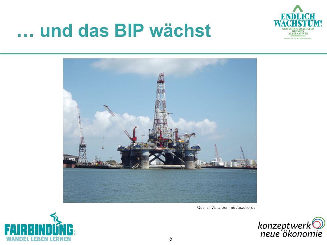 6 Quelle: W. Broemme /pixelio.de … und das BIP wächst