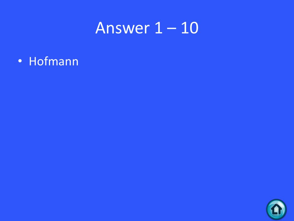 Question 1 - 20 Was wollte Hofmann ursprünglich entwickeln?