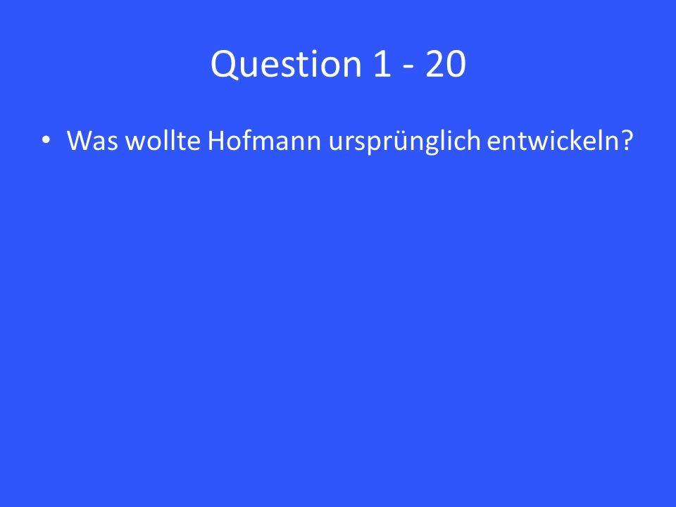 Answer 3 – 20 Schmerzen Fieber