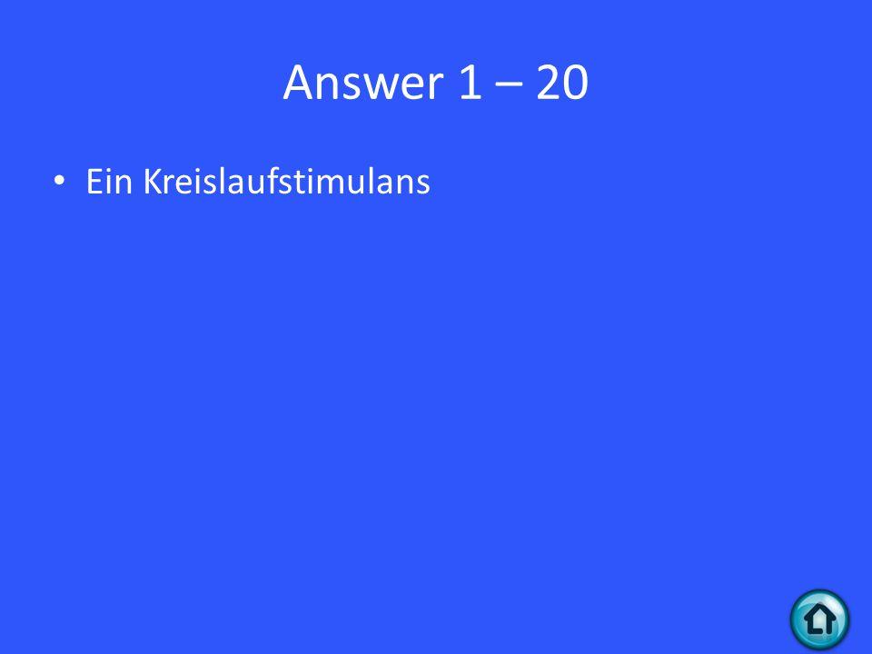 Question 1 - 30 Was ist Penicillin für ein Medikament?
