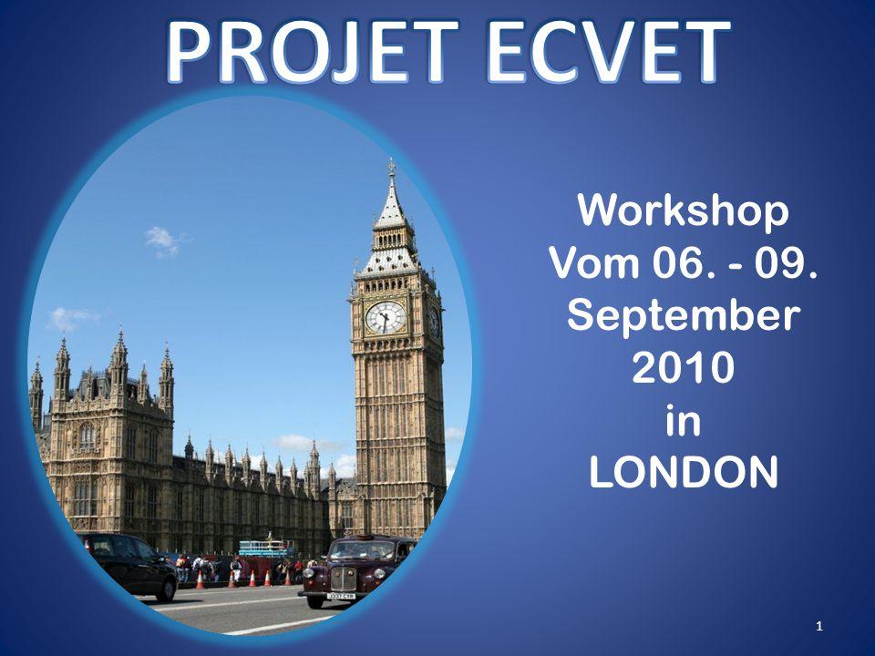 Workshop Vom 06. - 09. September 2010 in LONDON 1