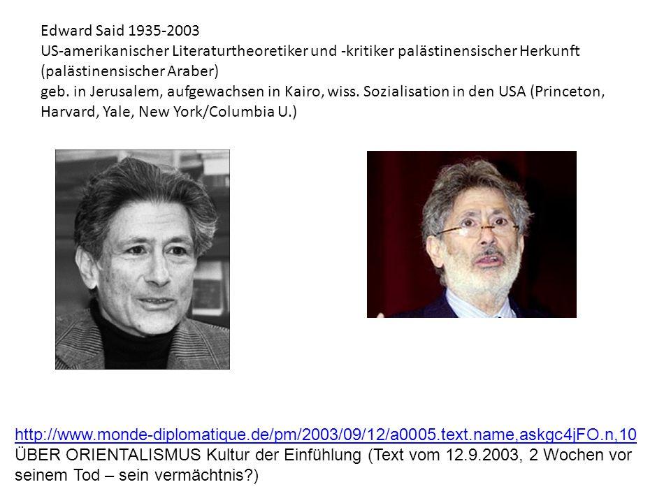 Edward Said 1935-2003 US-amerikanischer Literaturtheoretiker und -kritiker palästinensischer Herkunft (palästinensischer Araber) geb. in Jerusalem, au