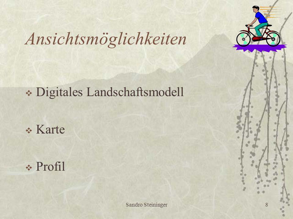 Sandro Steininger8 Ansichtsmöglichkeiten  Digitales Landschaftsmodell  Karte  Profil
