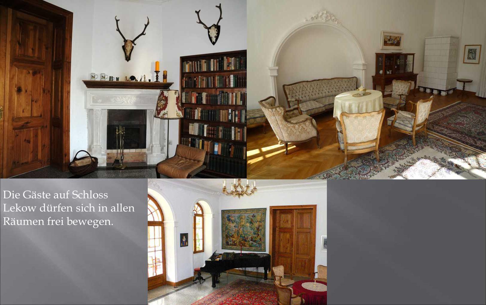 Die Gäste auf Schloss Lekow dürfen sich in allen Räumen frei bewegen.