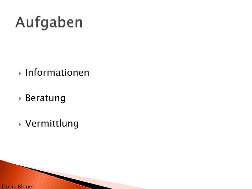  Informationen  Beratung  Vermittlung Doris Bleuel
