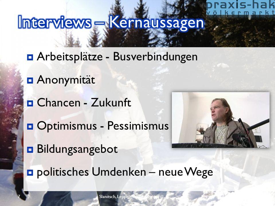 8  Parameter für Lebensqualität am Land Parameter für Lebensqualität am Land  Motivationsfaktoren für Jugend  Innovationen für Bund/Länder/Gemeinden