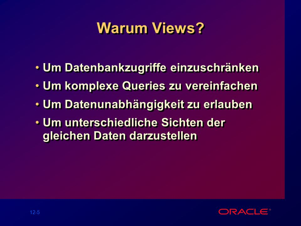 12-5 Warum Views.